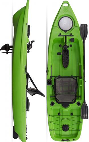 Caiaque para pesca com pedal - Milhas Nauticas Leader Power Drive System