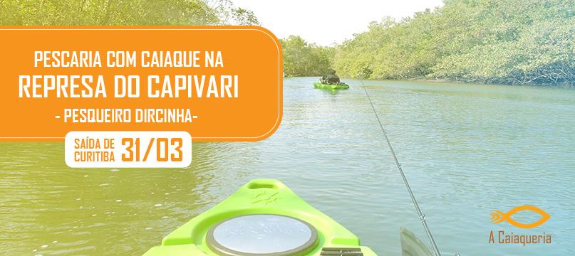 Pescaria com caiaques na represa do Capivari - Pesqueiro Dircinha
