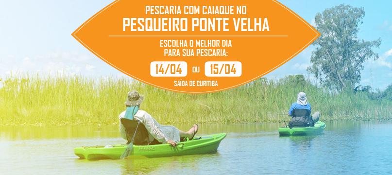 PEscaria com Caiaques no PEsqueiro Ponte Velha - São José dos Pinhais - 14 ou 15/04/2018